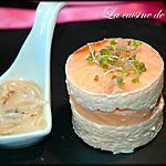 recette Mousseline aux deux saumons