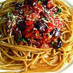 recette spaghettis sauce puttanesca
