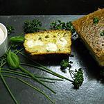recette Cake à la feta et aux herbes fraîches et sa chantilly de jambon blanc