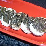 recette champignons en habits noirs (apéro chic)