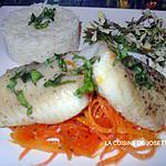 recette filets de flétan aux carottes