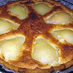 recette Tarte aux poires amandine