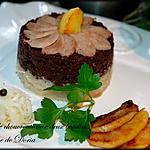 Gâteau de choucroute aux deux boudins