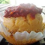 recette Cupcakes courgettes ,lardons et sa confiture de tomates