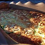 Clafouti courgettes jambon cru feta pignons