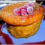recette Flan de potiron et son coulis de fruits rouges