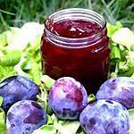 recette confiture de prunes (fait la veille)