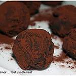 recette truffes aux chocolat ( maison)