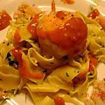 Parpadelles aux médaillons de sole en sauce homardine