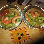 recette salade de concombre avocat et crevettes