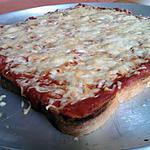 recette Pizza de pain de mie