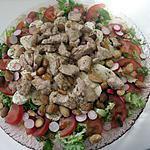 recette Salade gourmande poulet et amandes