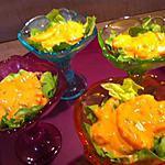 recette Coupes de crevettes sauce cocktail.