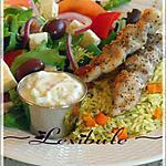 recette Souvlaki de poulet, l'authentique grec