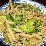 recette Penne complètes aux courgettes et herbes