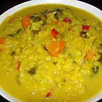 recette Soupe de lentilles corail au curry et aux bettes