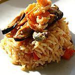 recette Pilaf de riz façon Paella