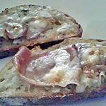 recette Bruschetta au jambon cru mascarpone et gorgonzola
