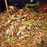 recette Nouilles chinoises au poulet et aux légumes Façon Wok