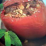 recette Poivrons farci à l'agneau aux saveurs d'italie ' tomates et pancetta '
