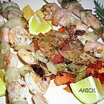 recette Crevettes au romarin frais
