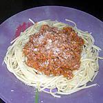 recette Mes spaghettis à la bolognaise