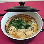 recette Oeufs cocotte épinards/raclette/ cantal