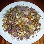 recette POELEE DE POMMES DE TERRE /CHAMPIGNONS/ FOIES DE VOLAILLE