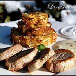 recette Filet mignon et roestis de choucroute à la sauce Munster