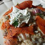 recette risotto au saumon et à la vodka