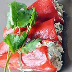 recette Poivrons marinés chèvre/coriandre