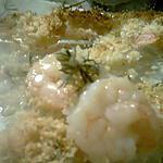 recette Crevettes gratinée vin blanc parmesan