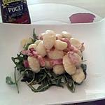 recette Roquette et gnocchis au vinaigre balsamique