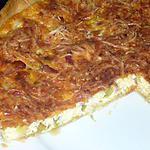 recette Quiche Fondue de poireaux et lardons