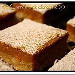 recette ** Gâteau fondant et moelleux: Carré (ment) Citron (né) avec un soupçon d'amande**