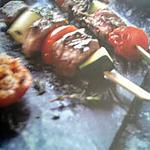 recette Brochettes de boeuf et legumes à la plancha