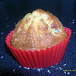 recette muffins à la banane, coeur de praliné et neige de coco