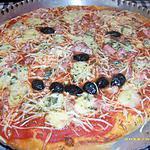 recette pizza bonhomme qui rit (réalisé par mon fils Anthony)