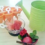 recette Batonnets glacés à la fraise
