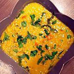 recette Soupe de lentilles corail au curry et aux bettes de Félicia