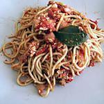 recette Spaghettis bolognaises végétariens