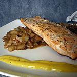 recette saumon cuit à l'unilatéral sur son lit de fenouil et sa créme à l'orange