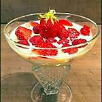recette Coupe de fraises crème anglaise.