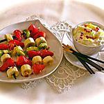 recette BROCHETTES DE FRUITS FRAIS