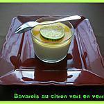 recette Bavarois au citron vert en verrine