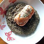 recette Paupiettes de saumon sur un lit de crème de lentilles