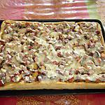 Pâte à pizza au thermomix et sa garniture jambon/champignons/tomates