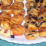 recette Mini-clafoutis au chorizo, tomates séchées et parmesan