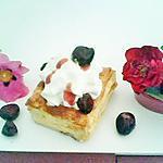 recette Bouchées aux fruits rouge et chantilly