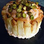 recette Charlotte de pommes de terre-saumon , coeur coulant comté